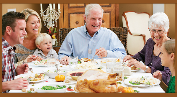 Here are Some Basic Thanksgiving Requirements,Turkey, Pumpkin Pie and Life Alert.